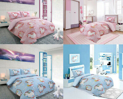 New Luxury Unicorn Duvet Cover Quilt Set Rich Cotton Reversible Bedding Sets