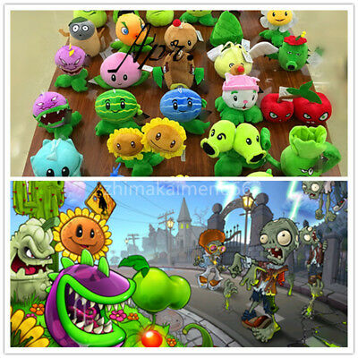 Gift Cute PLANTS* vs.ZOMBIES*Popular Game Soft Plush Toy Stuffed Doll Kid Baby