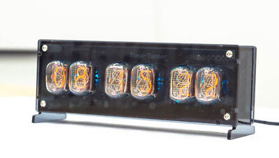 NIXIE TUBE CLOCK with 6x IN 12 unique vintage steampunk watch Nixie Tube  Clock