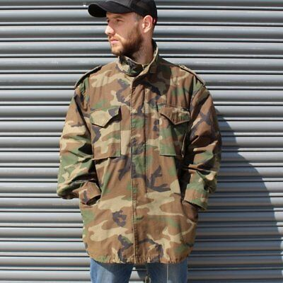 Vintage Alpha Industries US Army Issued Camouflaged Field Jacket XL XXL