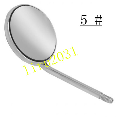 5 Pcs Dental Mouth Mirror SS Inspect Surface Reflector Odontoscope Glimpse 5 #
