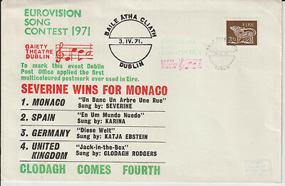 """"""" Eurovision Song Contest 1971"""" Envelope Used From """" Dublin """""""