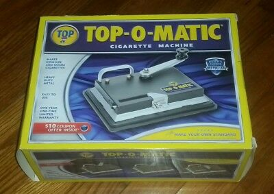 TOP-O-Matic Cigarette Rolling  Machine King in ORIGINAL BOX excellent condition