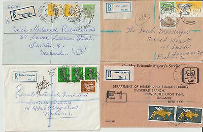 Ireland - 4 Registered Cover Used 1979 - 1992