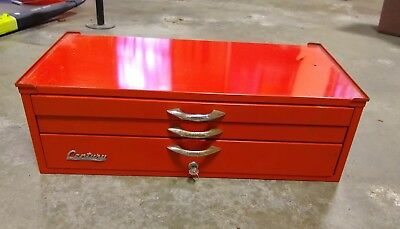 3 Drawer Century Red Tool Box - Tool Chest - Base