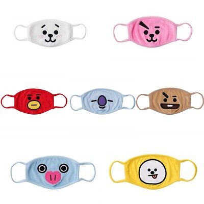 BTS BT21 Official by Line Friends Character Unisex Cotton Face Anti Dust Mask