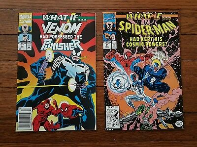 What if? #31, 44 Venom, Punisher, Spider-Man. Marvel Comic Newsstand