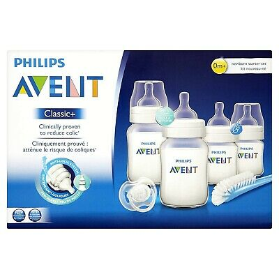Philips Avent SCD371 Newborn baby Bottle Kit 4 bottles Starter Set Classic +