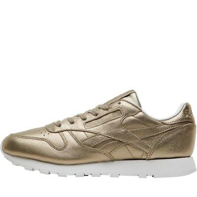 f31f478125f35 Reebok Classic Womens Gigi Hadid Trainers Leather Melted Metal Gold Size 4