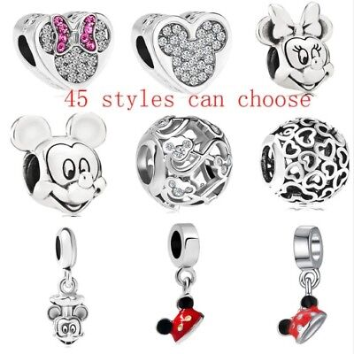 Charms Disney Ciondoli Tipo Pandora Minnie Mickey