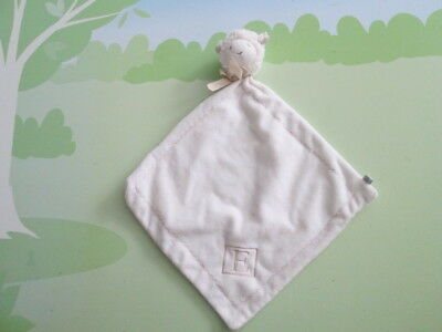 PBK Pottery Barn Kids Lamb Sheep Baby Security Blanket Monogrammed E