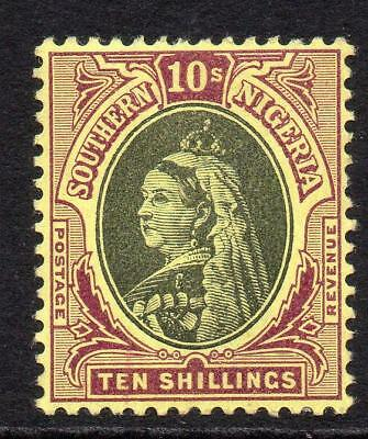 Southern Nigeria 10/- Stamp c1901-02 Mounted Mint SG9