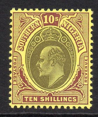 Southern Nigeria 10/- Stamp c1904-09 Mounted Mint