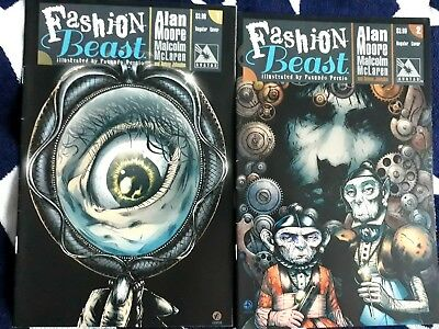 FASHION BEAST #1 + #2 by ALAN MOORE watchmen PROVIDENCE spawn SWAMP THING rare