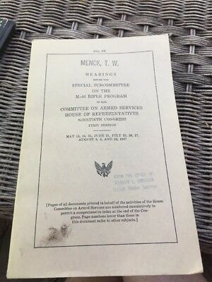 Rare Gun History Book 1967  Hearings Special Subcommittee  M-16 Rifle Program