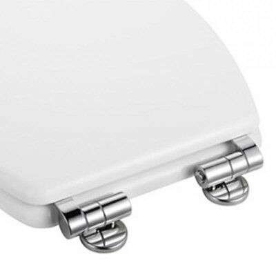 Chrome /Silver Universal Replacement Toilet Seat Hinges Mountings & Fittings Set
