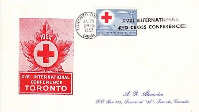 1952 Red Cross Issue FDC Sc#317 A. R,  Alexandre Cachet