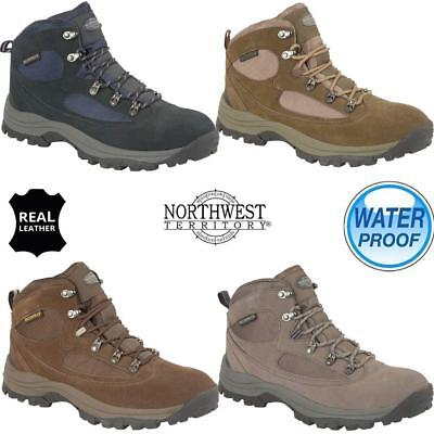 bd3bde3ed91 MENS NORTHWEST LEATHER Walking Hiking Waterproof Ankle Boots ...