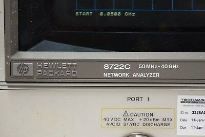 Agilent HP 8722C 50MHz-40GHz Network Analyzer Opt. 010