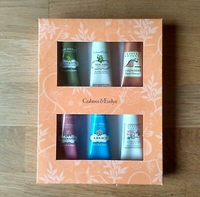 Crabtree And Evelyn Hand Cream Therapy Gift Set Brand New Boxed! 6 Tubes