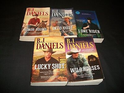Lot of 5 B.J. Daniels Books, The Montana Hamiltons Series, 1-3, 5-6