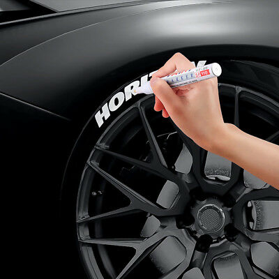 Permanent Car Tyre Tire Metal Paint Pen Oil Based Marker Waterproof White