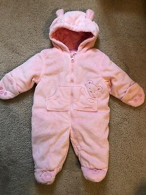fb780a34134d ABSORBA BABY GIRL Snowsuit 3-6 Months Zip Front Plush -  20.00 ...