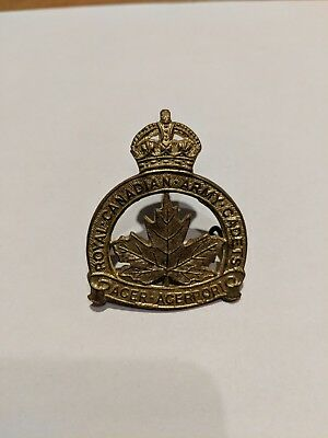 Royal Canadian Army Cadets Caps Badge Kings Crown