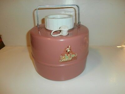 Vintage Jubilee 1 Gallon Thermos Picnic Jug Salmon Pink Color