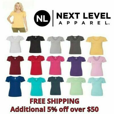 Next Level Ladies Ideal V-Neck Women's T-Shirt N1540 New S-2XL 14 Colors