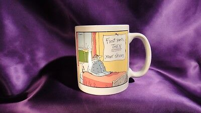 The FarSide/Gary Larson/First Pants,Then Your Shoes/ Coffee Mug/Cup/1983