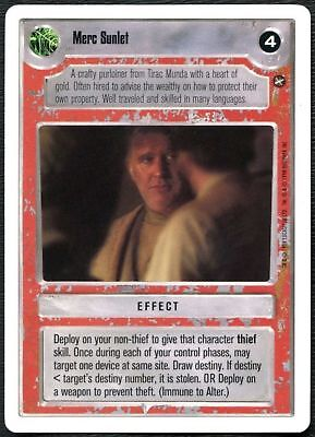 Star Wars CCG A New Hope Unlimited WB Merc Sunlet