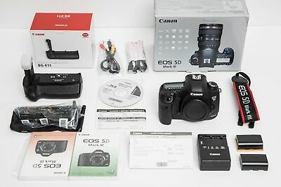 Canon EOS 5D Mark III with Battery Grip BG-E11 and Strap [Excellent+++] USA Mode