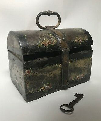 Antique 16th Century French Iron Missal or Messanger Casket. Eisenkassette.