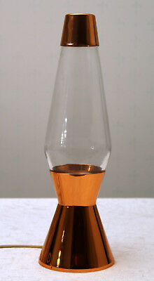 VINTAGE RETRO LARGE COPPER CRESTWORTH ASTRO LAVA Lamp Orange