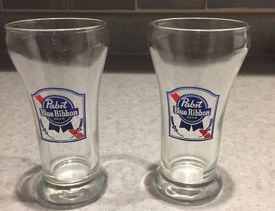 Set of 2 Pabst Blue Ribbon Beer/Ale Glasses 6 Ounces Straight from Milwaukee!