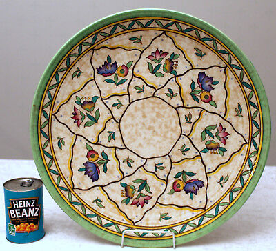 Monumental 17+ inch Charlotte Rhead Art Deco Crown Ducal Charger in pattern 6016