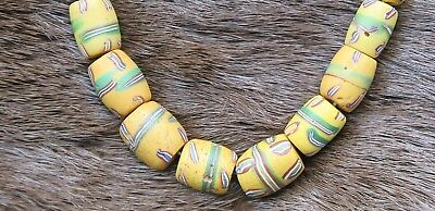 Venezianische Gelbe Glasperlen - Rare Yellow Venetian fancy trade beads