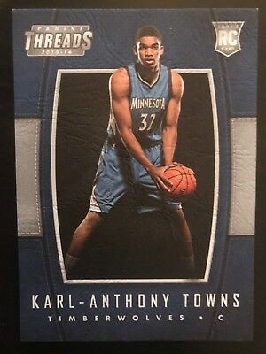 2015-16 Panini Threads Leather Rookie Karl Anthony Towns Rc