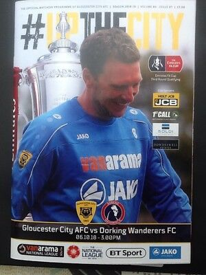 2018-19 - GLOUCESTER CITY V DORKING WANDERERS - FA CUP 3rd QUALIFYING ROUND