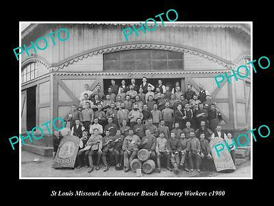 OLD LARGE HISTORIC PHOTO OF St LOUIS MISSOURI, THE ANHEUSER BUSCH BREWERY c1900