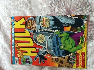 HULK.  167. VFN/+   With Mark Jewel insert