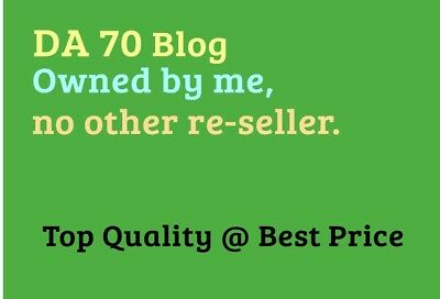Provide Da 70 Guest Post Backlink On A 6 Year Old Rare Blog