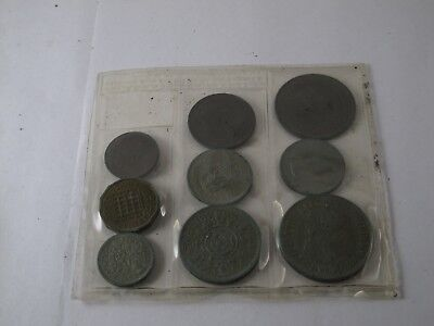 1953 Great Britain Coin Set, Lot of 9 Sets