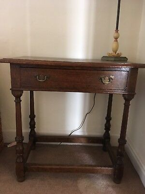 Oak Side Table Hall Table With Drawer