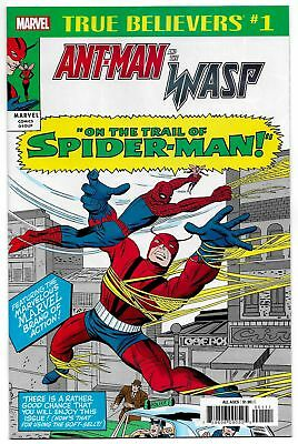 True Believers Ant-Man & Wasp Trail Of Spider-Man #1 (Marvel, 2018) NM