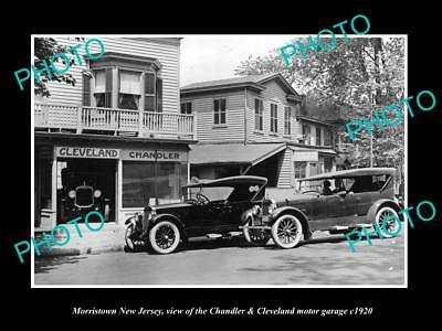 OLD HISTORIC PHOTO OF MORRISTOWN NEW JERSEY, CHANDLER & CLEVELAND MOTOR Co c1920