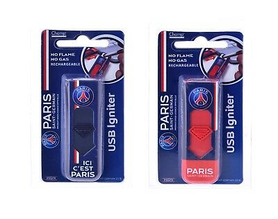 Briquet Rechargeable Usb Logo Psg Paris Saint Germain Club De Foot Marque Champ