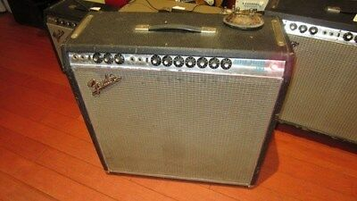 Vintage Original 1968 Fender Super Reverb Combo Guitar Amplifier Silverface Cool