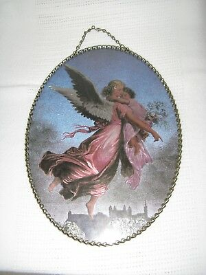 "Vintage Gallery Graphics Flue Cover 5400-0017 Flying Angels 8 X 11"" Oval"